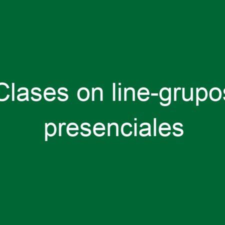 Clases on line-grupos presenciales